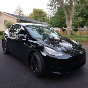 Photo of a Tesla Y